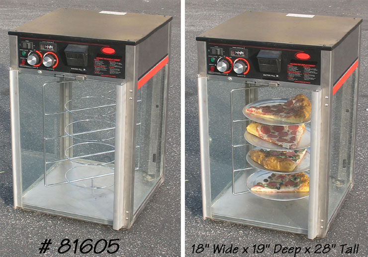 Pizza Warmers Of Glass ~ Pizza slice warmer in supermarket