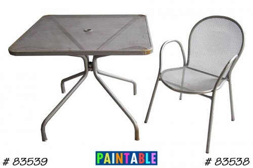 Table & Chair, Paintable