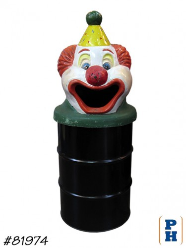 Clown Trash Can