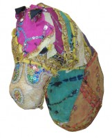 patchwork fabric horse head