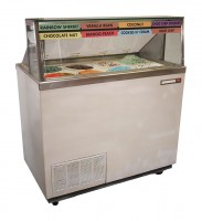 ice cream freezer / cooler - dipping cabinet