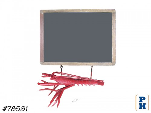 Hanging Lobster with Chalkboard
