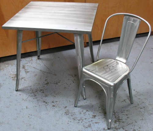 metal table & chair