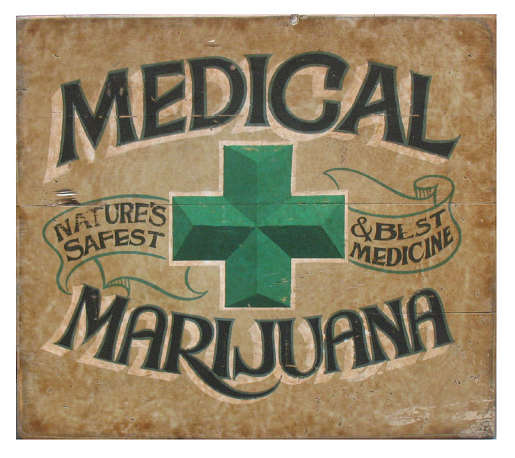 medical marijuana wood sign in cleared wood signs