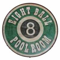 Billiards Wood Sign