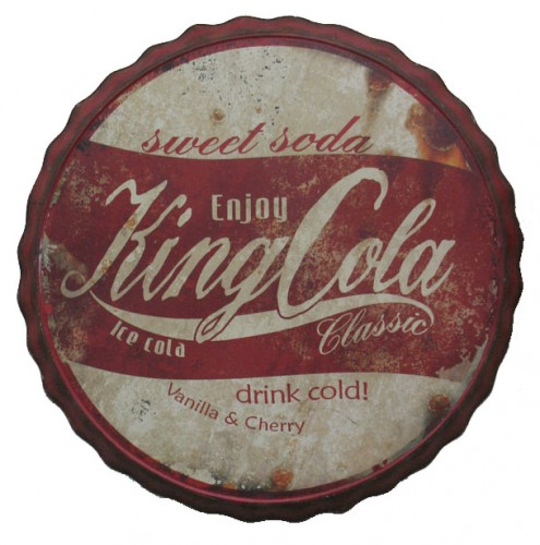 king cola bottle cap sign in Cleared Metal Signs 55a17c9bb3b