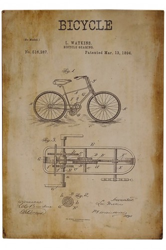 Bicycle Patent Sign