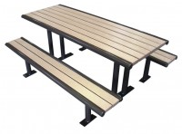 campsite picnic type table and bench