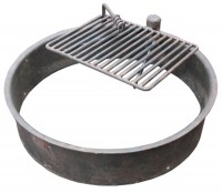 Campsite Barbecue Fire Ring