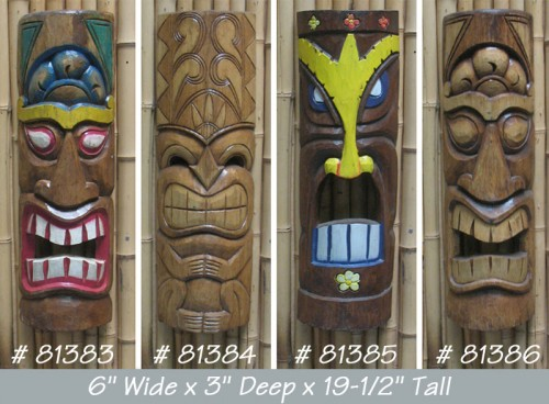 Tiki God Mask, Wall Decor