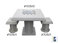 Chess Table & Stools, Table Only